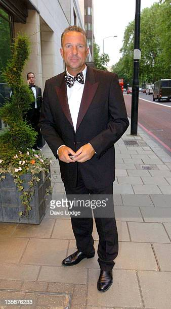 Ian Botham during Tom Moody Testimonial Arrivals at The Dorchester Hotel in London Great Britain