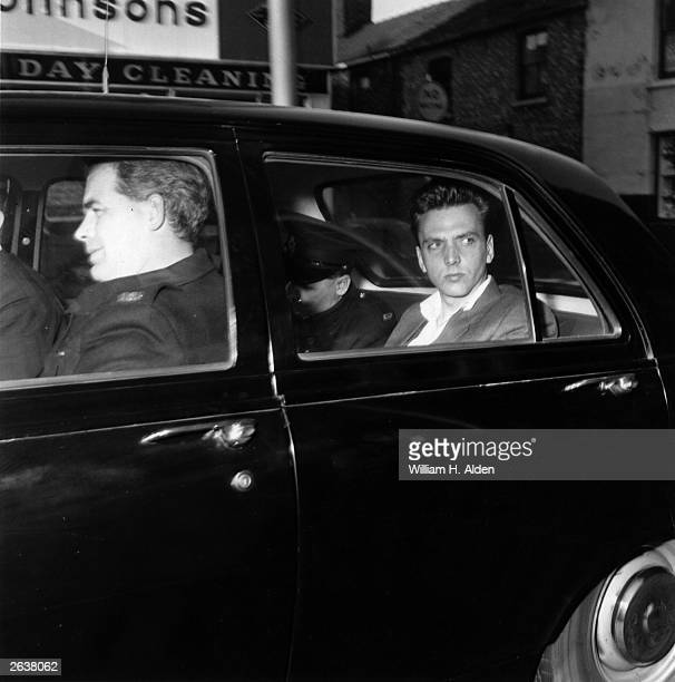 Ian Brady in police custody prior to his court appearance for the Moors Murders for which he was later convicted