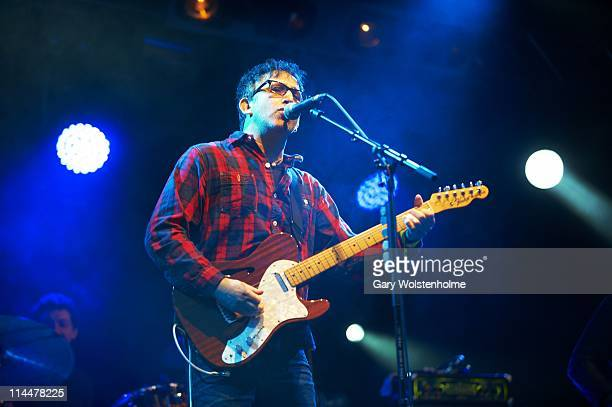 Ian Broudie of The Lightning Seeds performs on stage during the first day of FOM Fest at Capesthorne Hall on May 20 2011 in Macclesfield England