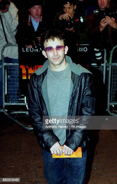 Ian Broudie singersongwriter with pop band The Lightning Seeds arriving for the European Gala premiere of the film The Beach at The Empire cinema in...