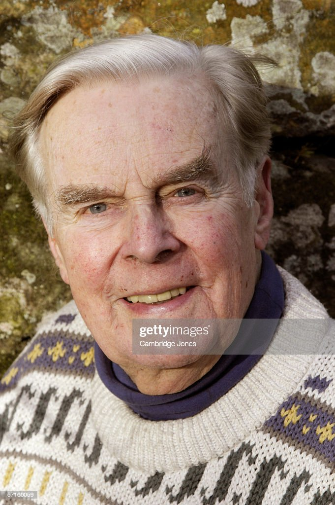Ian Carmichael poses during a photo call held on January 18, 2005 at his home in Yorkshire, England.