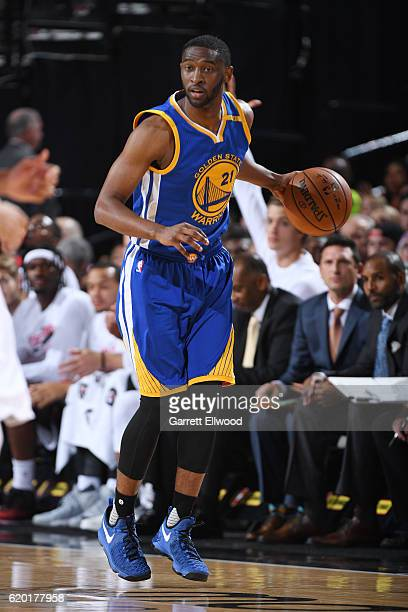 Ian Clark of the Golden State Warriors handles the ball against the Portland Trail Blazers on November 1 2016 at Moda Center in Portland Oregon NOTE...