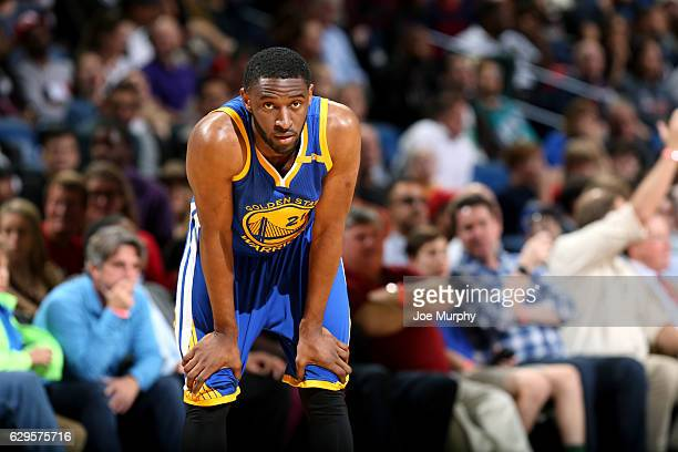Ian Clark of the Golden State Warriors looks on during the game against the New Orleans Pelicans on December 13 2016 at the Smoothie King Center in...