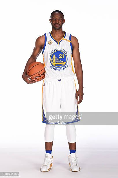 Ian Clark of the Golden State Warriors poses for a portrait during NBA Media Day at Oracle Arena in Oakland California on September 26 2016 NOTE TO...