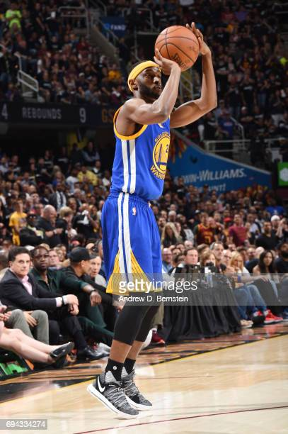 Ian Clark of the Golden State Warriors shoots the ball against the Cleveland Cavaliers in Game Four of the 2017 NBA Finals on June 9 2017 at Quicken...