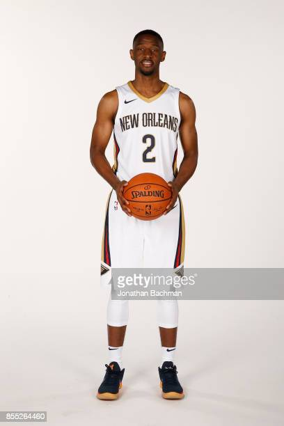 Ian Clark of the New Orleans Pelicans poses for a portrait during media day on September 25 2017 at Smoothie King Center in New Orleans Louisiana...