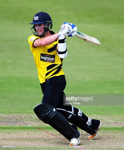 Ian Cockbain of Gloucestershire bats during the Natwest T20 Blast match between Gloucestershire and Essex at The College Ground on July 17 2016 in...