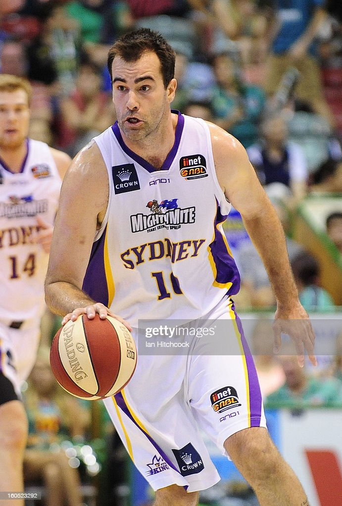 Ian Crosswhite of the Kings dribbles the ball during the round 17 NBL match between the Townsville Crodcodiles and the Sydney Kings at Townsville Entertainment Centre on February 2, 2013 in Townsville, Australia.