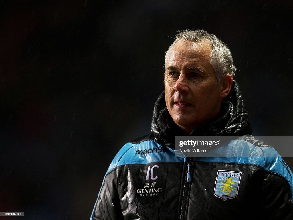 Ian Culverhouse, assistant manager of Aston Villa, looks on during the Barclays Premier League match between Aston Villa and Arsenal at Villa Park on November 24, 2012 in Birmingham, England.