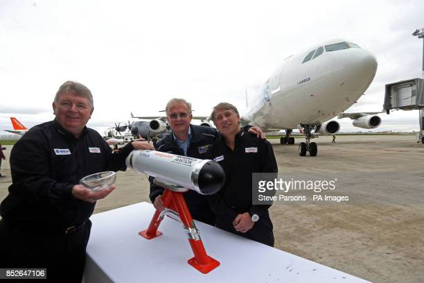 Ian Davies who is easyJet's Engineering Director and Manfred Birnfeld who is a flight Test engineer for Airbus and Dr Fred Prata inventor of the...