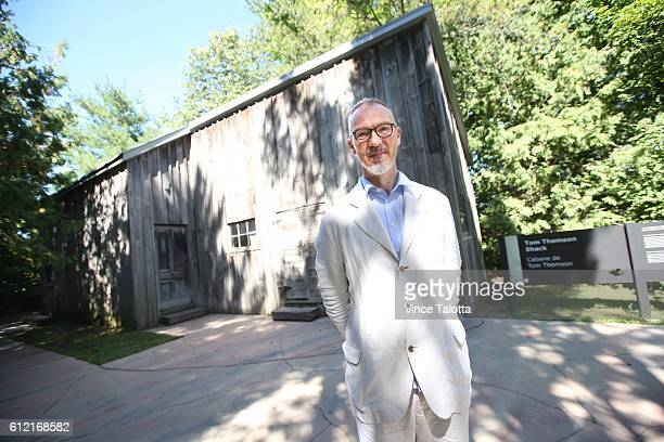 TORONTO ON AUGUST 23 Ian Dejardin the newlynamed director and CEO of the McMichael Collection of Canadian Art poses for pictures in front of the Tom...
