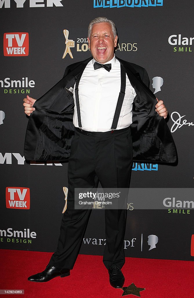 Ian 'Dicko' Dickson arrives at the 2012 Logie Awards at the Crown Palladium on April 15, 2012 in Melbourne, Australia.