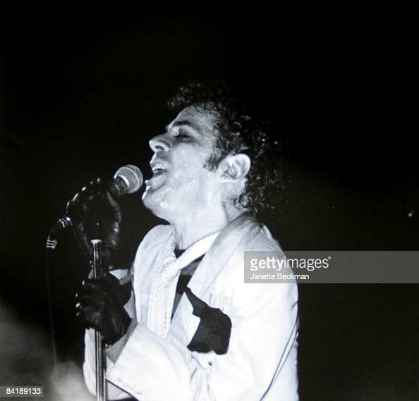 Ian Dury of Ian Dury and the Blockheads performs in Aylesbury 1980