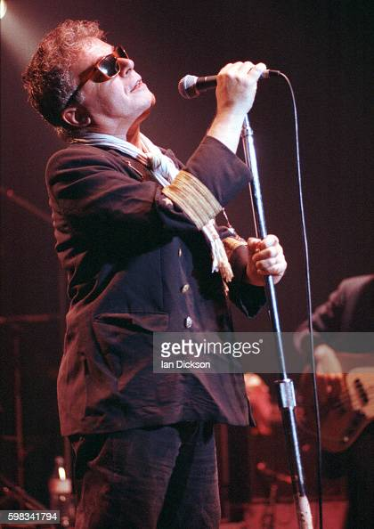 Ian Dury performing on stage at The Forum Kentish Town London 27 September 1990