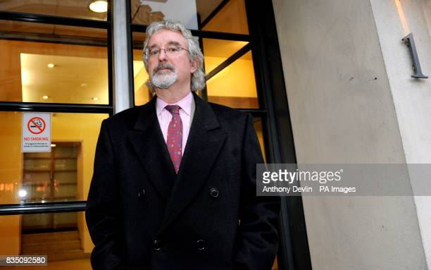 Ian Firth leaves Gate House in London after being suspended for four years for deliberately breaking the code of practice over miners' compensation