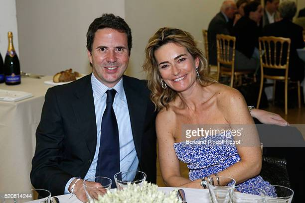 Ian Gallienne and Miss Nicolas Bazire attend the Societe des Amis du Musee d'Art Moderne du Centre Pompidou Dinner Party Held at Centre Pompidou on...