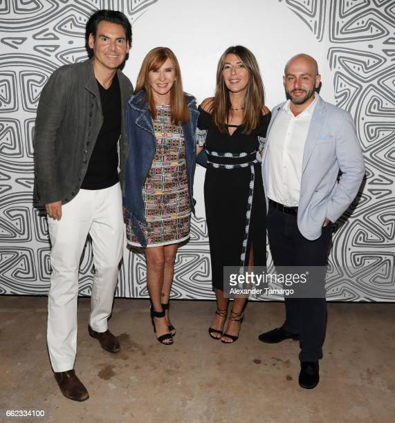 Ian Gerard designer Nicole Miller Nina Garcia and Beri Meric attend The Nicole Miller 2017 Spring Collection At The Underground Lauderdale Fashion...