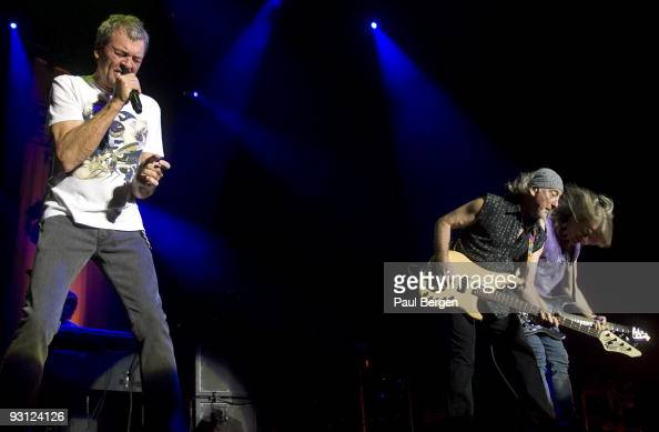 Ian Gillan and Roger Glover and Steve Morse of British rockband Deep Purple perform on stage at Heineken Music Hall on November 17 2009 in Amsterdam...