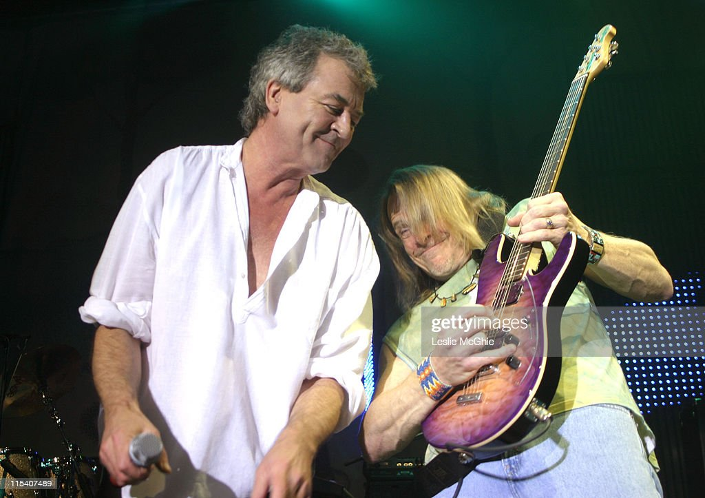 Ian Gillan and Steve Morse of Deep Purple during Deep Purple in Concert at The Astoria in London - January 17, 2006 at Astoria in London, Great Britain.