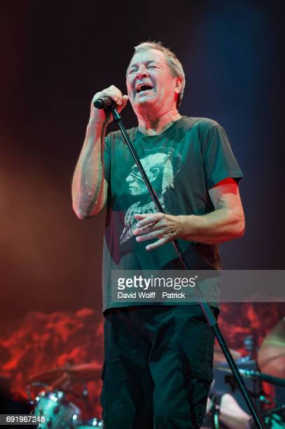 Ian Gillan from Deep Purple performs at AccorHotels Arena on June 3 2017 in Paris France