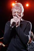 Ian Gillan of Deep Purple performs on stage at the Tommy Vance Tribute night on the fifth night of a series of concerts and events in aid of Teenage...