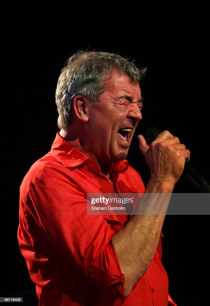 Ian Gillan of Deep Purple performs on stage during their concert at the Sydney Entertainment Centre on April 28, 2010 in Sydney, Australia.