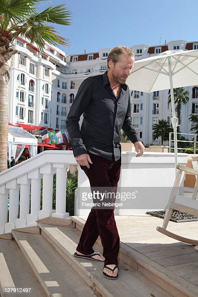 Ian Glen poses during the 'Jack Taylor' photocall as part of MIPCOM 2011 at Hotel Majestic on October 3 2011 in Cannes France