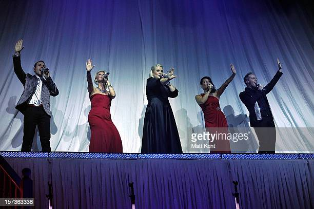 Ian 'H' Watkins Faye Tozer Claire Richards Lisa ScottLee and Lee LatchfordEvans of Steps perform at London Palladium on December 2 2012 in London...