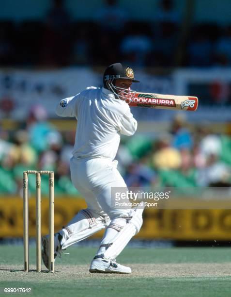 Ian Healy batting for Australia during the 5th Test match between Australia and England at the WACA Perth Australia 6th February 1995 Australia won...