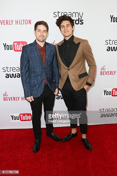Ian Hecox and Anthony Padilla arrive at the 2016 Streamy Awards at The Beverly Hilton Hotel on October 4 2016 in Beverly Hills California
