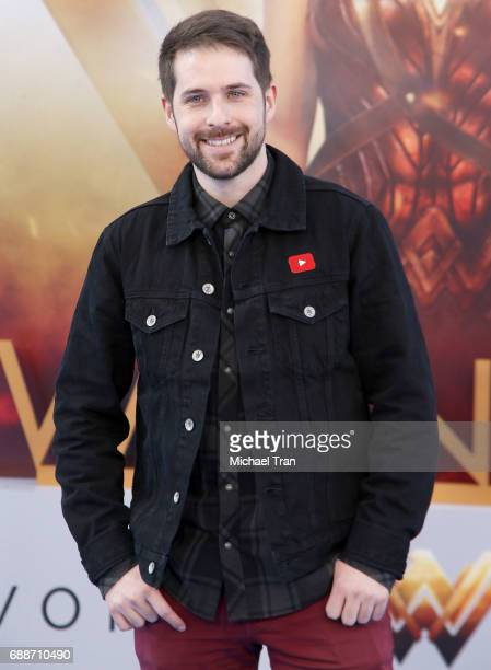 Ian Hecox arrives at the Los Angeles premiere of Warner Bros Pictures' 'Wonder Woman' held at the Pantages Theatre on May 25 2017 in Hollywood...