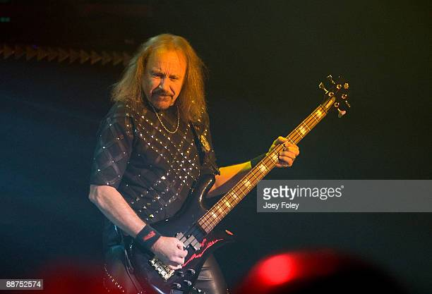 Ian Hill of Judas Priest performs in the opening date of their Summer Tour at the Egyptian Room Murat Centre on June 29 2009 in Indianapolis Indiana