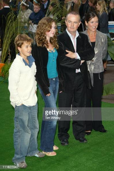Ian Hislop and his family during 'Wallace Gromit The Curse of the WereRabbit' London Charity Premiere at Odeon West End in London Great Britain