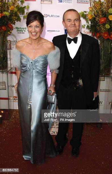 Ian Hislop and wife Victoria on crutches arrive for the Galaxy British Book Awards 2007 at the Grosvenor House Hotel in central London
