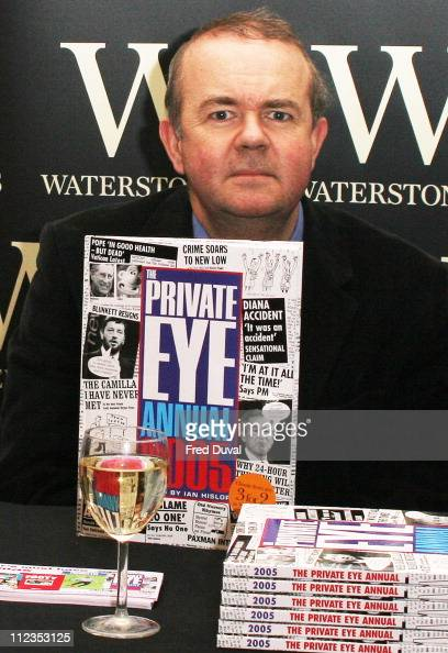 Ian Hislop during Ian Hislop Signs His Book 'Private Eye Annual 2005' at Waterstone's in London November 29 2005 at Waterstone's Leadenhall Market in...