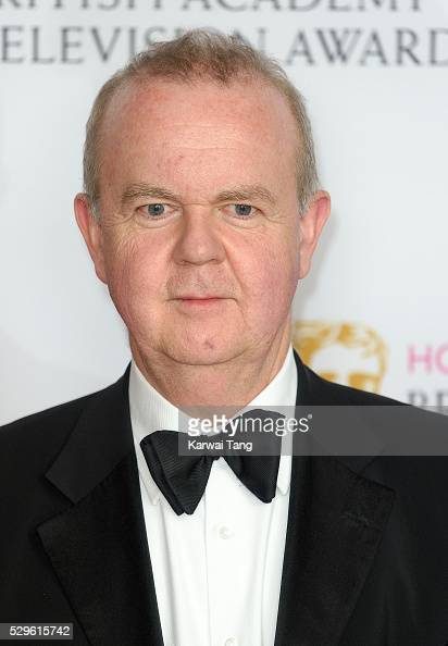 Ian Hislop poses in the winners room at the House Of Fraser British Academy Television Awards 2016 at the Royal Festival Hall on May 8 2016 in London...