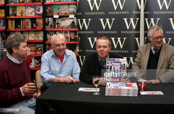 Ian Hislop with Private Eye team during Ian Hislop Signs His Book 'Private Eye Annual 2005' at Waterstone's in London November 29 2005 at...