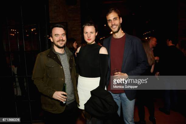 Ian Hollander Jule Rozite and Drew Xanthopoulos attend the Filmmaker Welcome Party at The Bowery Hotel on April 21 2017 in New York City
