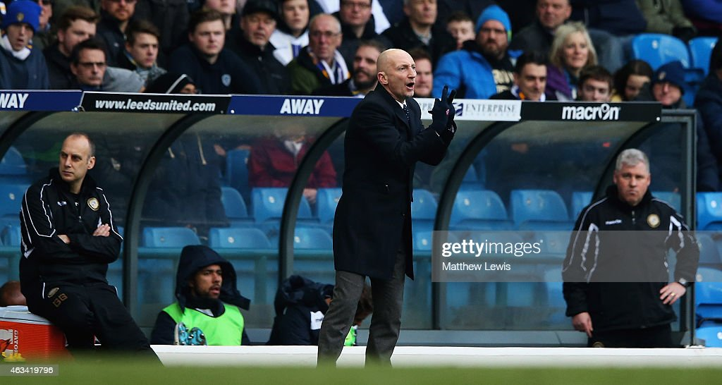 Ian Holloway manager of Millwall looks on during the Sky Bet Championship match between Leeds United and Millwall at Elland Road on February 14 2015...