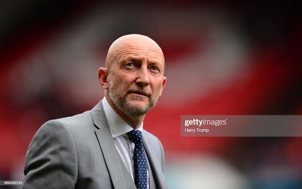 Ian Holloway, Manager of Queens Park Rangers during the Sky Bet Championship match between Bristol City and Queens Park Rangers at Ashton Gate on April 14, 2017 in Bristol, England.
