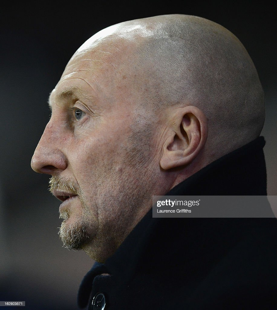 Ian Holloway of Crystal Palace looks on during the npower Championship match between Derby County and Crystal Palace at Pride Park Stadium on March 1, 2013 in Derby, England.
