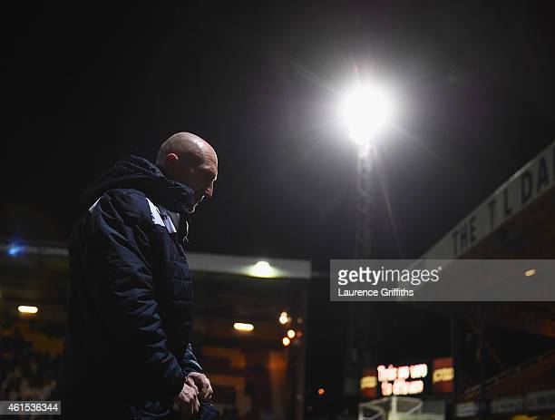 Ian Holloway of Millwall trudges off the field after defeat in the FA Cup Third Round Replay between Bradford City and Millwall at Coral Windows...