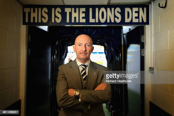 Ian Holloway poses for a picture during a press conference to announce him as the new Millwall manager at The Den on January 9 2014 in London England