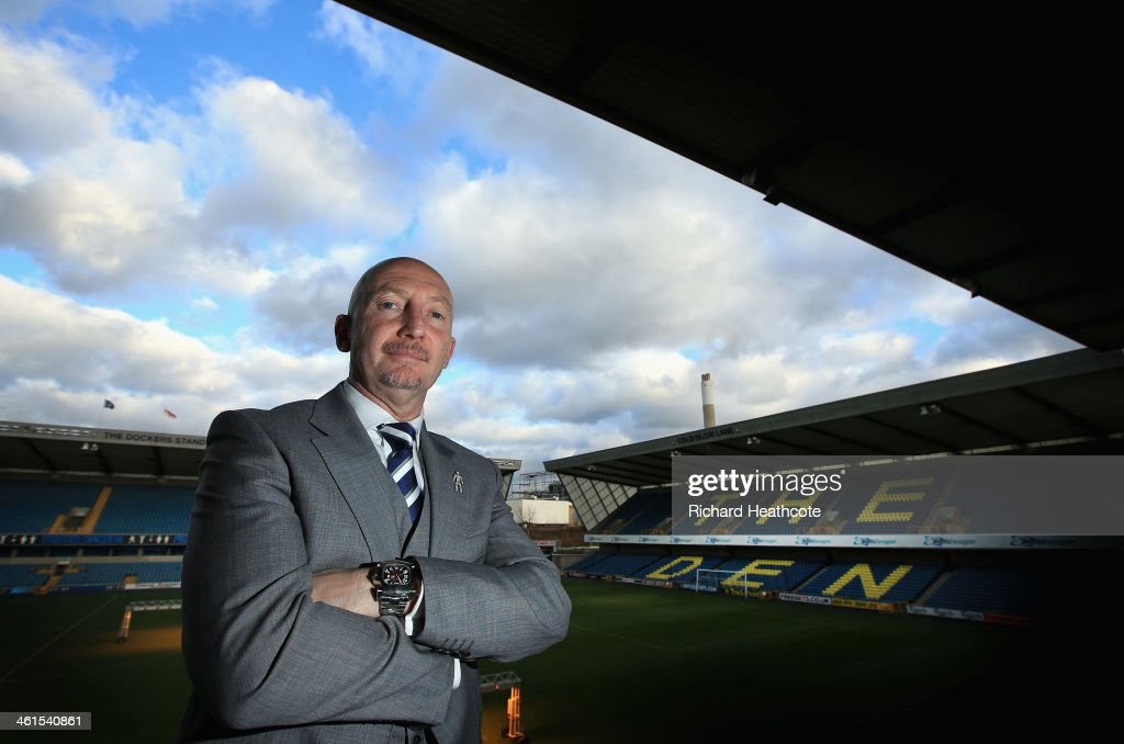 <a gi-track='captionPersonalityLinkClicked' href=/galleries/search?phrase=Ian+Holloway&family=editorial&specificpeople=235580 ng-click='$event.stopPropagation()'>Ian Holloway</a> poses for a picture during a press conference to announce him as the new Millwall manager at The Den on January 9, 2014 in London, England.