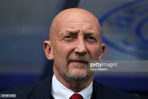 Ian Holloway QPR Manager before the Sky Bet Championship match between Queens Park Rangers and Nottingham Forest at Loftus Road on April 29 2017 in...
