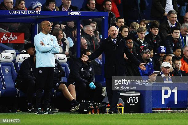 Ian Holloway the Queens Park Rangers manager shouts instructions from the touchline during the Emirates FA Cup Third Round match between Queens Park...