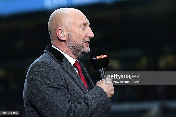 Ian Holloway works as a pundit for Sky Sports during the Sky Bet Championship Play Off First Leg match between Sheffield Wednesday and Brighton Hove...