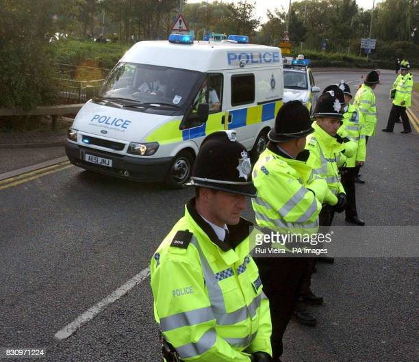 Ian Huntley arrives at Peterborough Crown Court in a police van The former caretaker from Soham is charged with the murder of Jessica Chapman and...