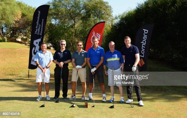 Ian Issac of Lombard Tristan Crew of PGA Javier Sierra of NatWest Andy Bowden of Coca Cola Mark Treacey of Lombard and Ross Parker of PGA pose for a...
