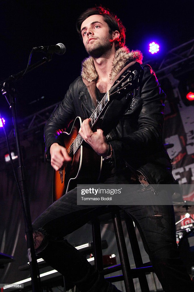 Ian Keaggy of Hot Chelle Rae performs at the Salvation Army's 3rd annual Rock the Red Kettle concert held at the Nokia Theatre L.A. Live on December 15, 2012 in Los Angeles, California.